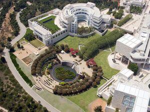 An aerial view of The Getty Center. (Photo: blogs.getty.edu/iris/)