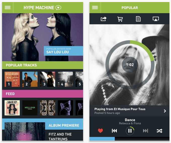 Hype Machine: for the music you can't find on Spotify.