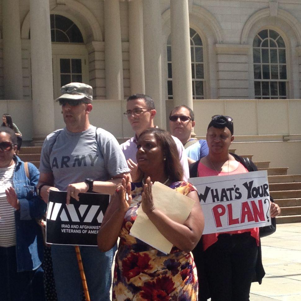 Letitia James Breaks Again With de Blasio Over NYC Department of Veterans Affairs