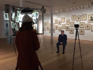 Ryan and Trevor Oakes are in residence at the Drawing Center doing portraits of visitors. (Photo: Courtesy of The Drawing Center)