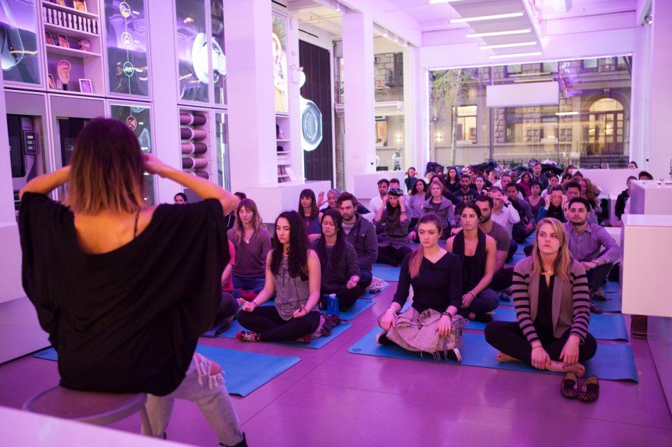 Inside New York's 'Sexiest' Meditation Class