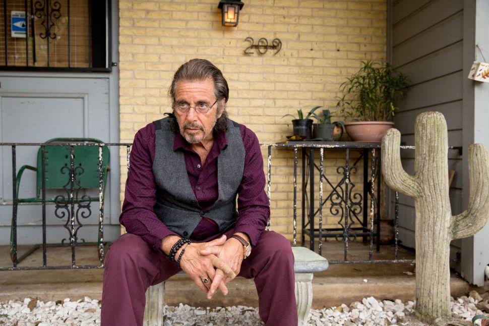 Al Pacino Tanks in 'Manglehorn'