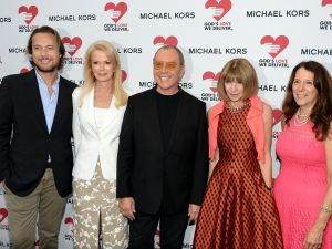 NEW YORK, NY - JUNE 09: (L-R) Lance LePere, Blaine Trump, Michael Kors, Anna Wintour and Karen Pearl, President & CEO of God's Love We Deliver attend the celebration of God's Love We Deliver returning to Soho with a dedication of the new Michael Kors building on June 9, 2015 in New York City. (Photo by Andrew Toth/Getty Images for God's Love We Deliver)