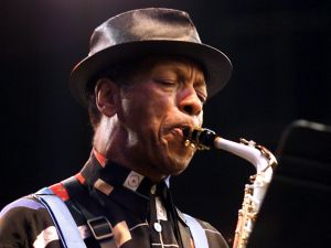 Ornette Coleman performs at the Bell Atlantic Jazz Festival in Battery Park. (Photo: Getty Images)