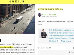 New York Post overlaid by Genius Beta. (Image: screenshot)