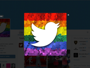 Twitter was one of many sites which made design mods after the Supreme Court marriage equality ruling. [Image: Screenshot]