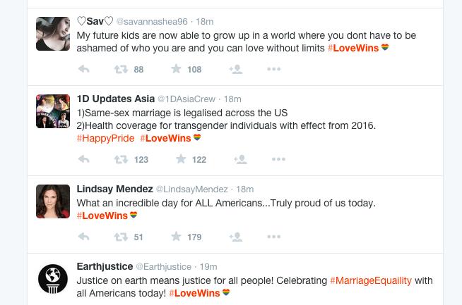 If You Tweet Using #LoveWins, Twitter Will Add a Rainbow Heart
