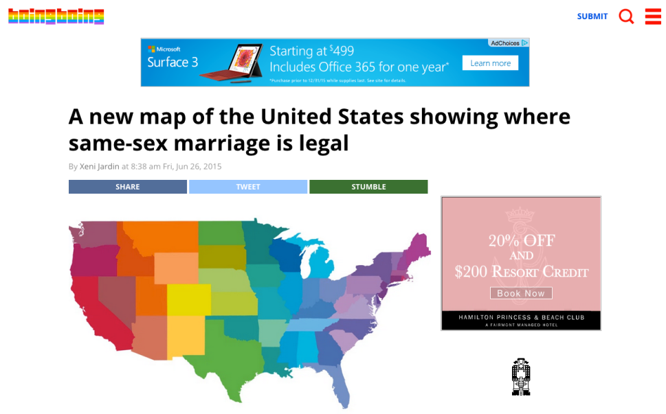 These Major Websites Made Awesome Design Mods for Marriage Equality