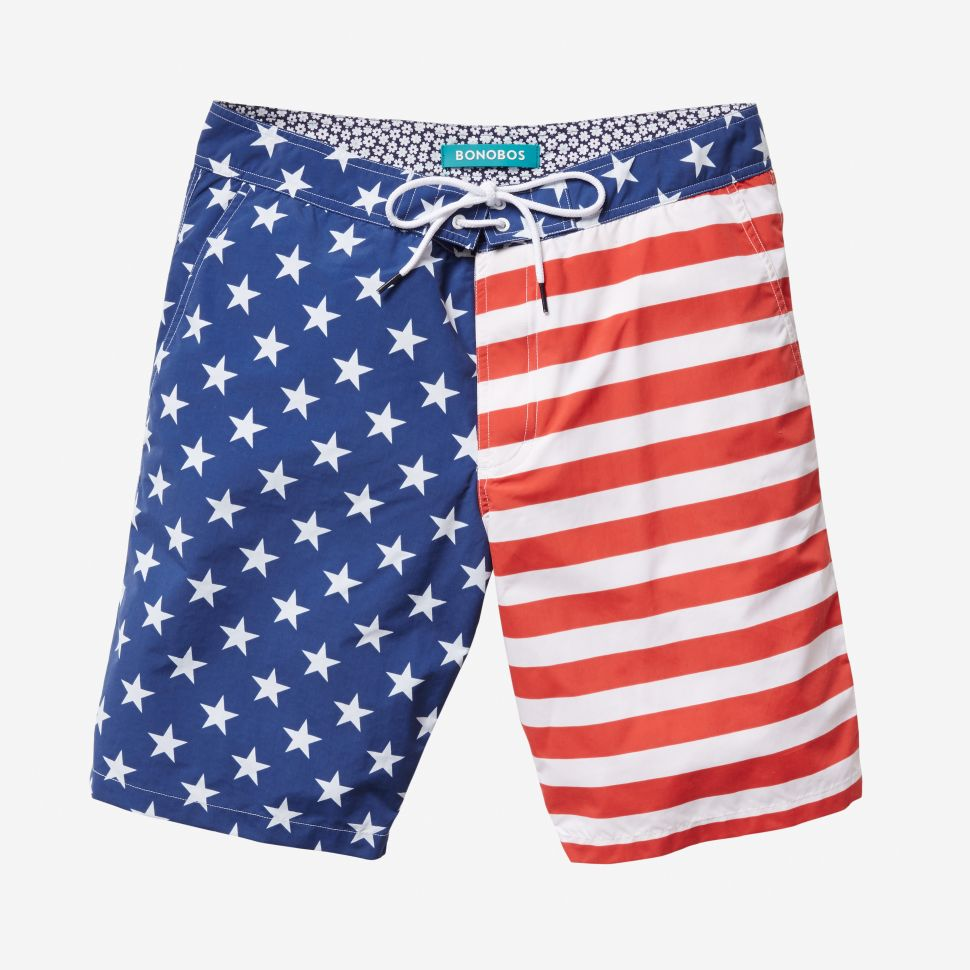 Attention Dad Bods and Chiseled Gods, We Found Your Patriotic Swimwear