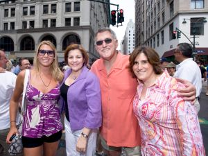 Anthony Catullo (third from left) at Gay Pride Parade with Christine Quinn and Kim Catullo. Photo courtesy Christine Quinn.