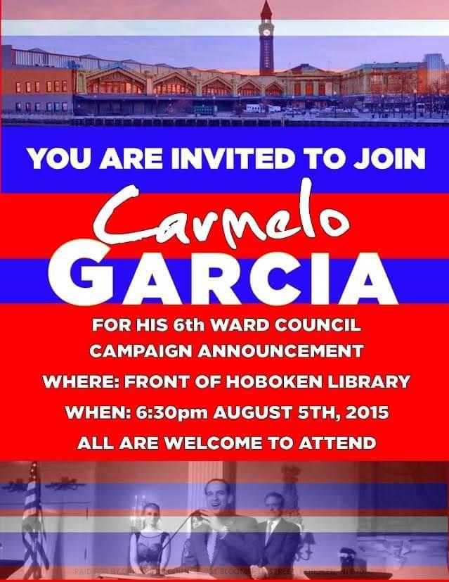 Assemblyman Garcia Will Run for Ward 6 Council Seat in Hoboken