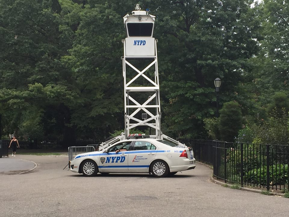 NYPD Removes Controversial Surveillance Tower From Tompkins Square Park
