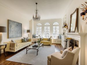Candace Bushnell's Greenwich Village apartment has been toned down a bit. (Brown Harris Stevens)