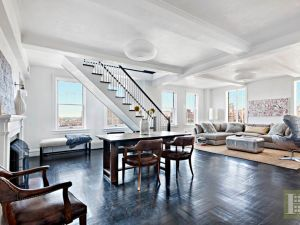 Mary-Louise Parker's former West Village duplex is back on the market. (Halstead Property)