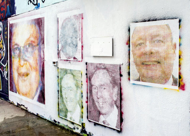Artist Papers Major Cities With NSA Officials' Awful Selfies