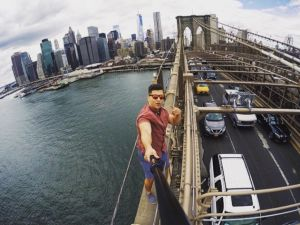 The wannabe urban explorer who posted an Instagram atop the Brooklyn Bridge just ended up hurting the cause, according to urbexer Julia Wertz. (Instagram)