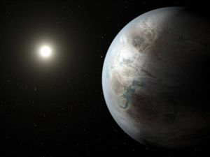 Artist's concept depicts the earth-like planet Kepler-452b (NASA Ames/JPL-Caltech/T. Pyle)