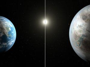 Artist's concept compares Earth to Kepler 452-b (Photo: NASA/JPL-Caltech/T. Pyle)