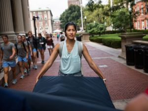 Columbia Student Emma Sulkowicz Carries Mattress Around Campus Until Her Alleged Rapist Is Expelled