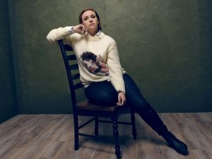 Ms. Dunham poses at a shoot for the Sundance Film Festival in Park City, Utah. (Photo by Larry Busacca/Getty Images)