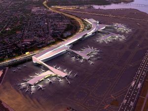 "Gov. Andrew Cuomo's ""after"" vision for a ""entirely new"" Laguardia Airport."