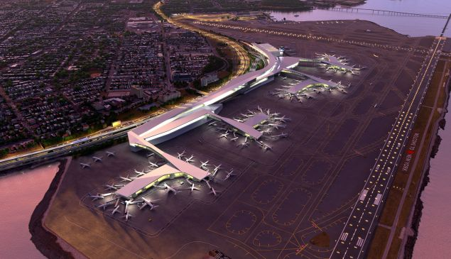 """Gov. Andrew Cuomo's """"after"""" vision for a """"entirely new"""" Laguardia Airport."""