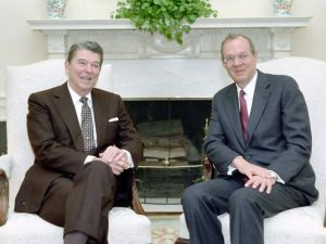 President Reagan meeting with Judge Anthony Kennedy after his nomination to the Supreme Court (Wikimedia)
