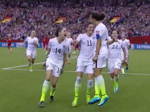 USWNT celebrates after goal (Photo: Screenshot/Youtube)