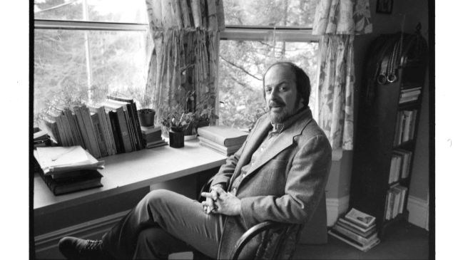 E.L. Doctorow photographed by Jill Krementz on March 10, 1975 at his writing desk in New Rochelle.