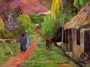 Paul Gauguin, Street in Tahiti (1891). (Photo: Wikipedia)