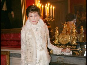 Comtesse Jacqueline De Ribes at The Traditional Christmas Dinner At The British Embassy In Paris. (Photo by Bertrand Rindoff Petroff/Getty Images)