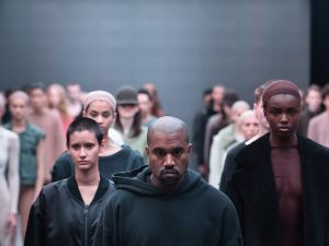 walks the runway at the adidas Originals x Kanye West YEEZY SEASON 1 fashion show during New York Fashion Week Fall 2015 at Skylight Clarkson Sq on February 12, 2015 in New York City.