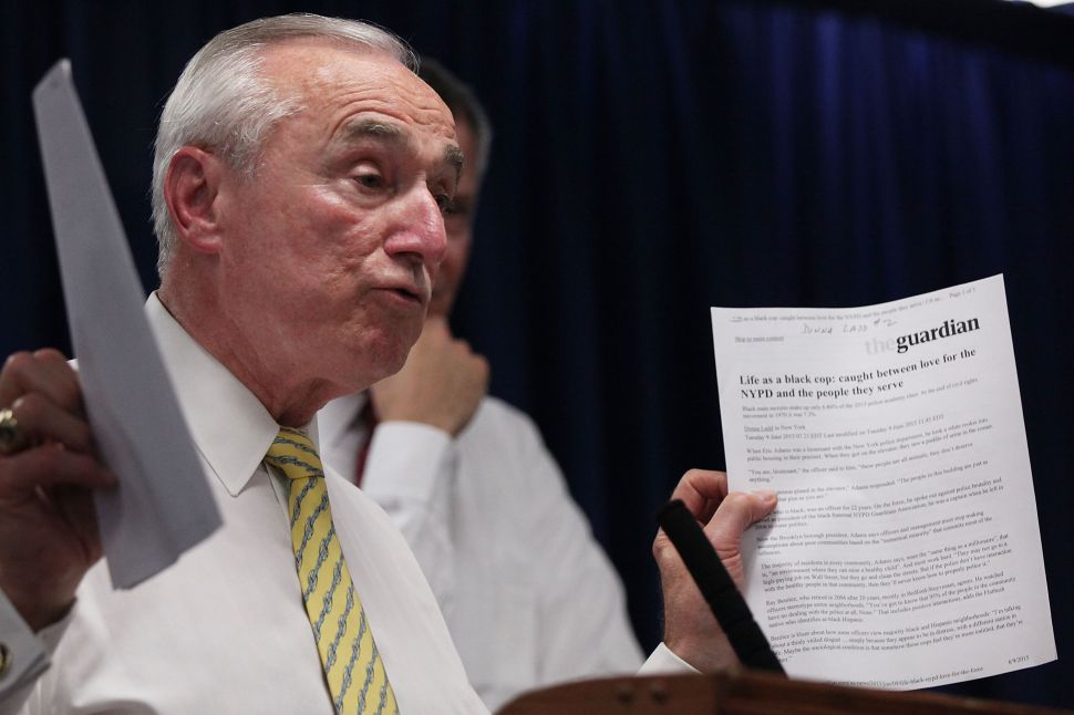 Bratton Says Homelessness Is Fueling Perception of a Crime Spike