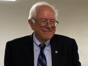 Democratic presidential hopeful Senator Bernie Sanders (I-VT) smiles as he walks along a corridor in the Senate in Washington, DC, on June 17, 2015. AFP PHOTO/ ANDREW CABALLERO-REYNOLDS (Photo credit should read Andrew Caballero-Reynolds/AFP/Getty Images)