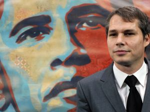"Artist Shepard Fairey, known for his ""Hope"" poster during the 2008 election, was arrested in Detroit on charges of malicious destruction of property (Photo: JEWEL SAMAD/AFP/Getty Images)."