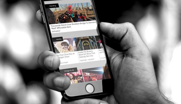 Blockfeed aggregates local news stories, but it also geographically coordinates them to be most relevant to the user. (Photo: Blockfeed)