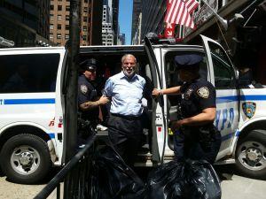 Assemblyman Dov Hikind in police custody (Photo: Assemblyman Dov Hikind's Office).