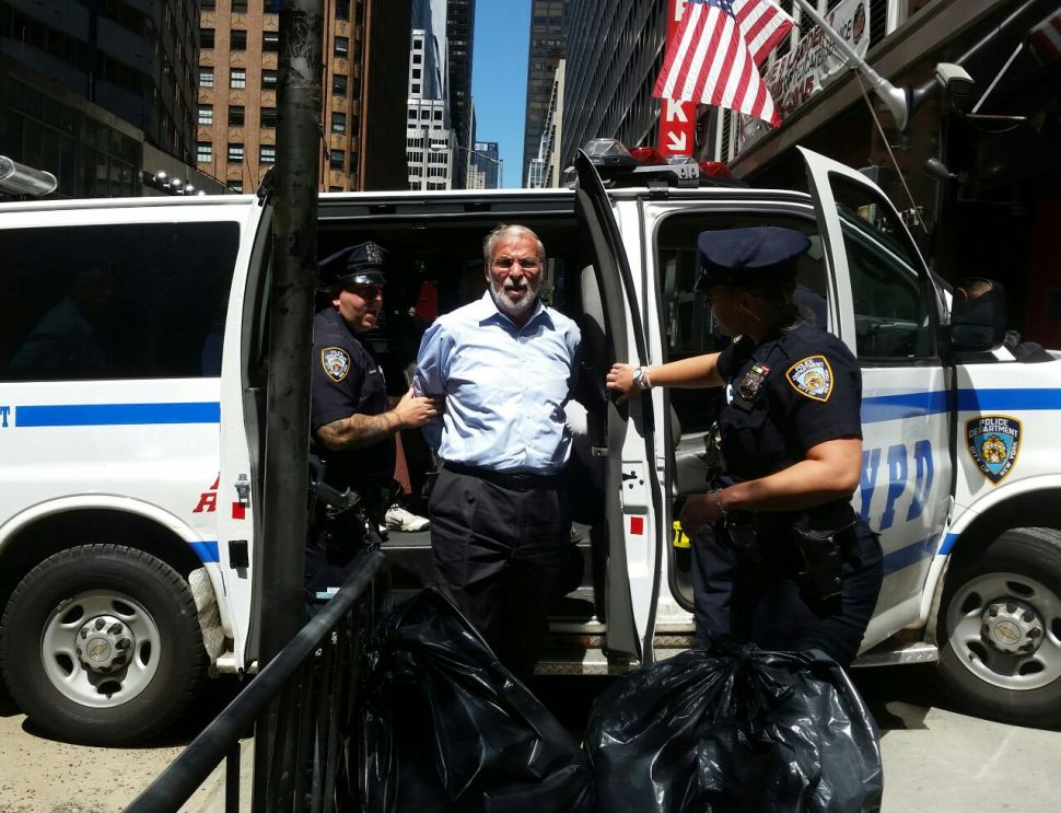 Brooklyn Assemblyman Arrested Protesting Iran Deal Outside Schumer's Office