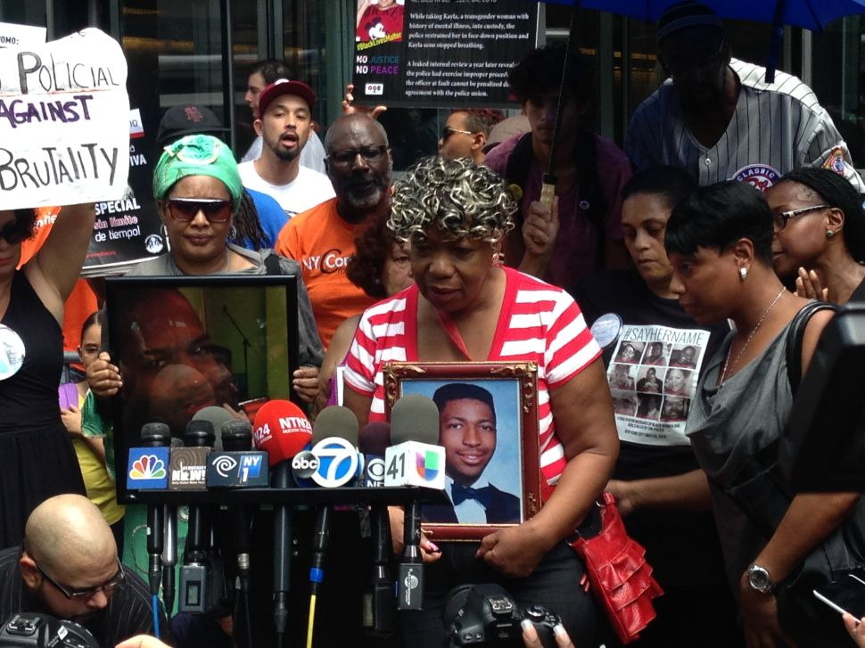 Eric Garner's Mother Rallies for Stronger Special Prosecutor in Police Killing Cases