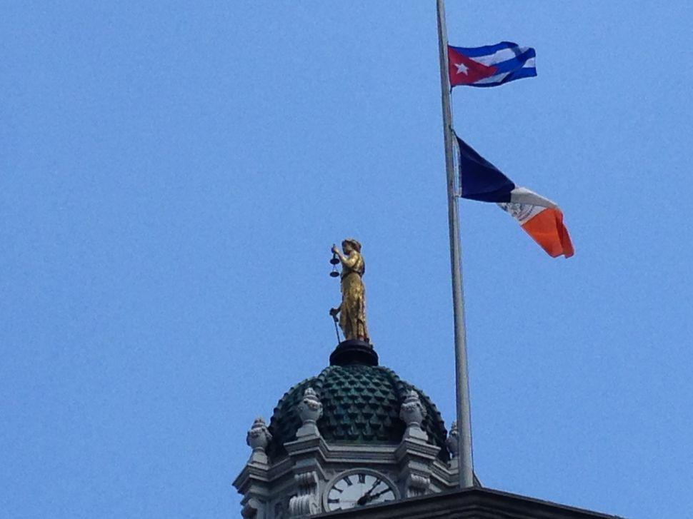 Castro's Cuban Flag Flies Over People's Republic of Brooklyn
