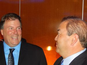 Peter Murphy, left, with state Senator Kevin O'Toole (R-40).