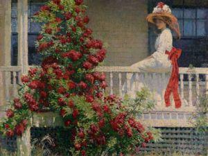 Crimson Rambler, 1908, by Philip Leslie Hale.