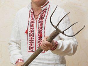 Leader of the Radical Party, parliamentarian Oleh Lyashko in 'vyshyvanka'