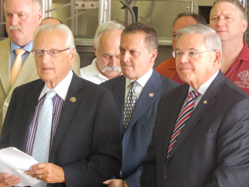 Menendez and Pascrell want more federal funding for firefighters