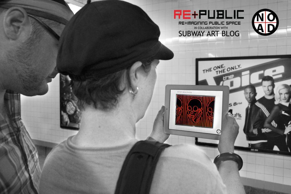 New App Makes Subway Platform Into a Gallery