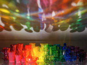 Rainbow glass. (Photo: Fredrik Nilsen)