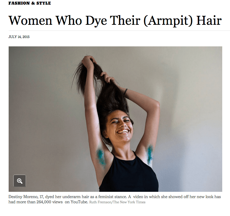 The New York Times Is Fascinated With Dyed Hair