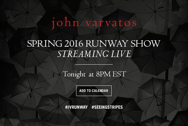 Watch the John Varvatos Runway Show Live Here at 8 P.M.