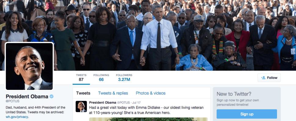 @POTUS: Twitter Is a Future Biographers' Best Friend