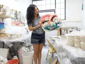 Jennie Jieun Lee in her Greenpoint studio. (Photo: Courtesy of the artist)